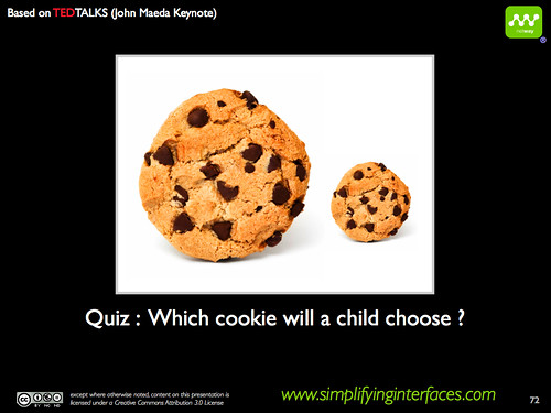Simplicity - Which cookie will a child choose