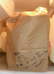 Note to Son on Lunch Bag