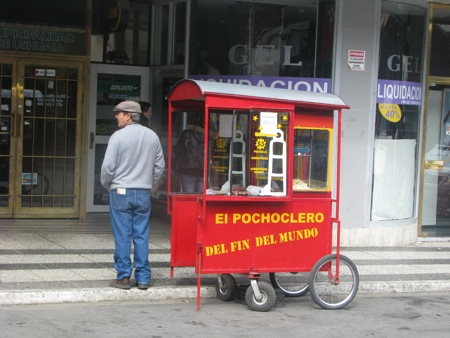 Popcorn Vendor in Ushuaia