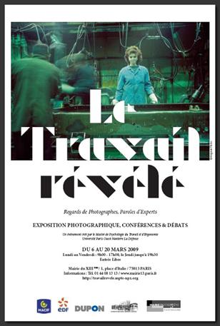 """Affiche expo """"Le Travail Révélé"""""""