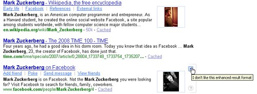 Facebook integrated into Yahoo! SERPs