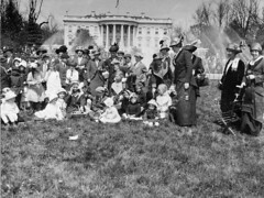 Easter egg roll on the lawn of the White House, ca. 1905