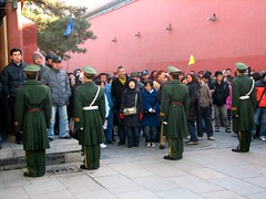Chinese guards Forbidden City (photo by Constantine Markides)