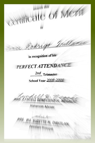 Perfect Attendance Certificate Printable Certificate