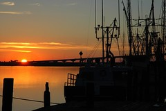 Sunrise at the mouth of the Apalachicola (Pauls Travel Photos) Tags: sunrise mexico boats coast gulf shrimp forgotten apalachicola blueribbonwinner platinumphoto