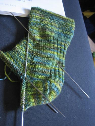 Sky green socks
