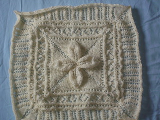 Willow Leaf Knitting Pattern : Ravelry: Square for a Quilt, Willow Leaf Pattern pattern ...