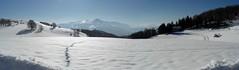 Laga from Nordica (Fonzolo) Tags: winter panorama sun snow ski ice wide neve monte sole inverno sci laga forca ghiaccio piana castelluccio sibillini vettore canapine
