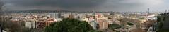 Barcelona Panorama (Katka S.) Tags: barcelona city panorama espaa architecture clouds buildings spain ciudad catalunya catalua