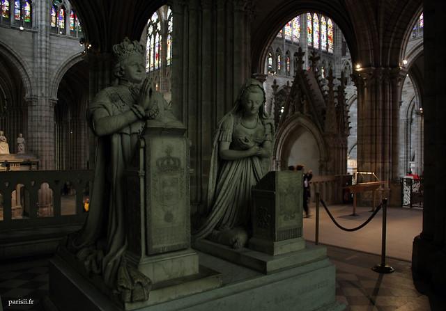 Les statues funéraires de Louis XVI et Marie-Antoinette sont pour moi le clou du spectacle