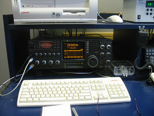 """Guest operator's position at W1AW, ARRL HQ, Ct • <a style=""""font-size:0.8em;"""" href=""""http://www.flickr.com/photos/10945956@N02/3435154935/"""" target=""""_blank"""">View on Flickr</a>"""