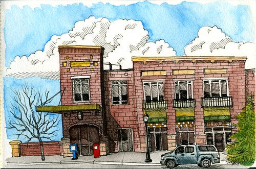 bozeman sketchcrawl: across from the library