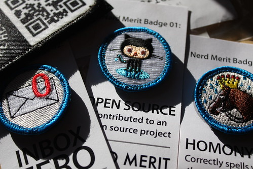 Nerd Merit Badges shipment by hyperdashery, on Flickr