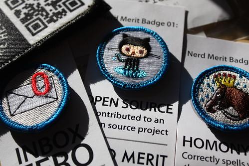 Nerd Merit Badges shipment by hyperdashery, on Flickr