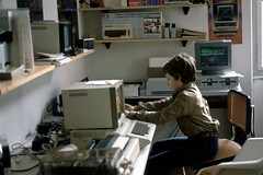 At work, in 1982 (paolovalde) Tags: sinclairzx81 paolovaldemarin vic20 appleii olivettim20