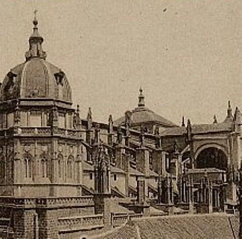 Cimborrio de la Catedral de Toledo antes de 1910. Foto Linares