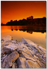 Moment of Truth (SHAZRAL) Tags: sunset lake water pool rock canon landscape eos air filter batu kolam tasik cokin p121 flickrsbest 450d gnd8 anawesomeshot p198 putraheight azralfikri shazral daarklands