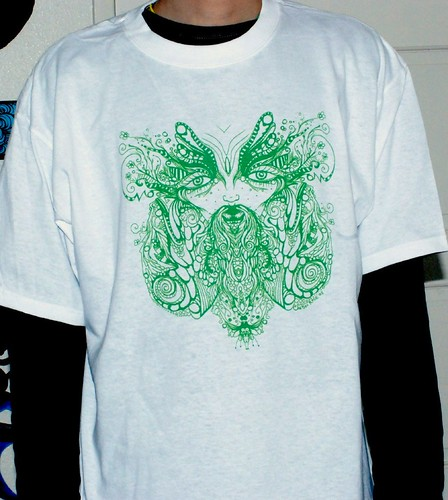 the Green Man print on shirt