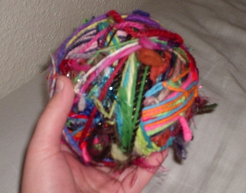 Sally Comes Unraveled - The Blog: Recycled Yarn Ball