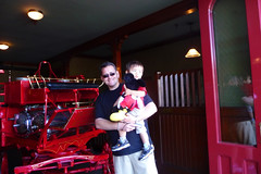 sean and john at disneyland firehouse