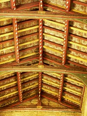 Painted roof. All Saints - Middleton Cheney