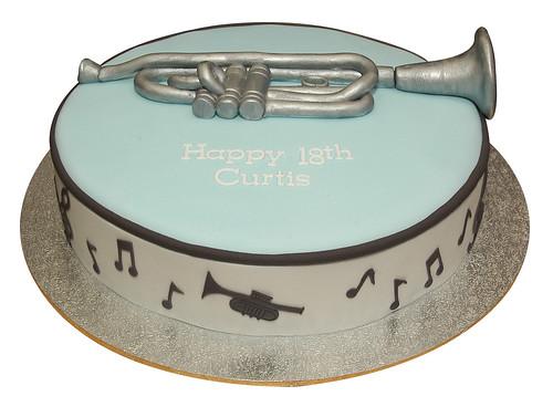 Trumpet Music Cake