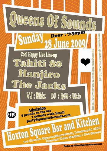 QOS Party on 28th June at Hoxton bar and Kitchen!!Come to see us!!