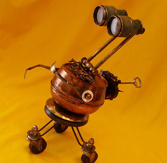 robot sculpture * MORTIMER - The Jewel Thief Steampunk Robot (Reclaim2Fame) Tags: sculpture metal altered vintage robot box recycled handmade assemblage oneofakind ooak humor personality robots binoculars figure figurine creatures creature foundobject bots trinket alteredart jewelrybox steampunk merz humanfigure recycledmaterial trinketbox metalrobot jewelryholder keepsakebox robotsculpture usableart artrobot steampunkart reclaim2fame steampunksculpture assemblagerobot willwagenaar williamwagenaar steampunkassemblage junkrobot foundobjectrobot reclaimrobot reclamationart wagenaarstudio steampunkcreature