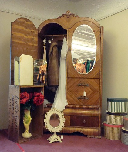 antique furniture armoire. an antique armoire in furniture store