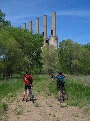 Approaching the Stacks (bjornery) Tags: minnesota bike bicycle century ride metro suburbs twincities exurbs 100miles umorepark gopherordnanceworks 100miler