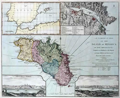 mapa de Menorca