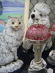 Best Of Friends (trashleycan) Tags: usa dog lamp cat ceramic la weird losangeles funny day melrose hollywood fairfax fleamarket vintagelamp melrosetradingpost