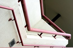 Zig Zag 3 (Mel VDL Photography) Tags: pink urban white abstract lines shade repetition minimalism leading zigzag fragment zigzags leadinglines urbanfragment ministract honeybeephotography melvdl vanderlindenphotography