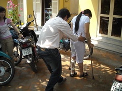 Gait Training in Hoi An (valockett) Tags: training vietnam therapy brace crutch danang physical polio gait steadyfootsteps