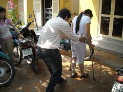 Gait Training in Hoi An (valockett) Tags: training vietnam therapy brace crutch danang physical polio gait steadyfootsteps