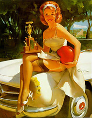 Sebring Pin-up Girl (Nigel Smuckatelli) Tags: girl mercedes leg sebring pinup ennstalclassic