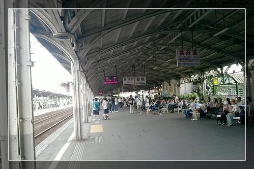 你拍攝的 台南車站。