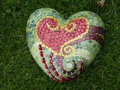 Heart before joins (Mosaikstall) Tags: glass germany deutschland heart mosaic nuggets herz glas polystyrene mosaik styropor goldmirror irisierendesglass irisierendesglas mosaicstable mosaikstall goldspiegel glitterglas slidesupplread