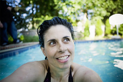 summer smiles (mosippy) Tags: selfportrait me swimming 5d poolside 2470 mosquitobites kansascitytrip inthepool mosippy summer2009