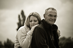 Father and Daughter (Joe Hesketh) Tags: family portrait blackwhite nikon nationalforest nikond40 nikon55200mm456