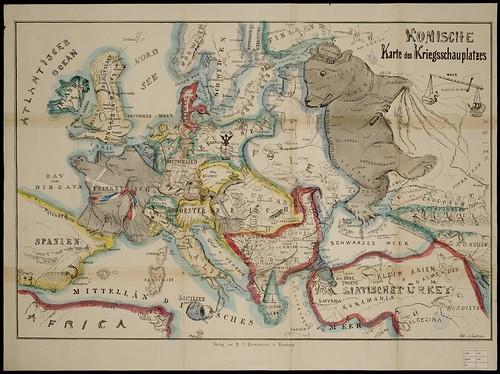 Komische Karte des Kriegsschauplatzes 1854