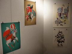 Ville Savimaa at Pick Me Up: Contemporary Graphic Art Fair 29/04/10 (designer_dan) Tags: uk house london art dan me up illustration design hall graphic designer contemporary daniel somerset fair exhibition pick ville savimaa
