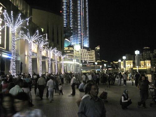 Crowds at Dubai Mall on Friday Night