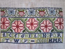 Band 3 of 17th century mystery sampler