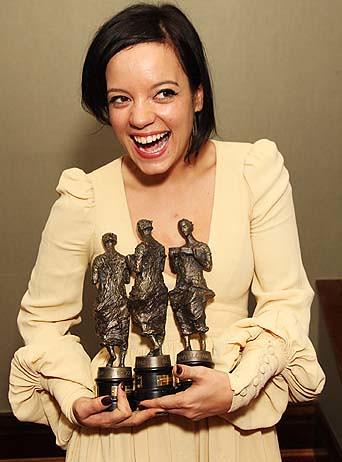A tearful Lily Allen scooped three Ivor Novello awards on Thursday, including best overall songwriter by BOTTLE PR