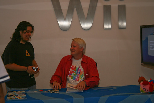 Charles Martinet chatting with his fans