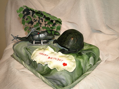 Marvelous Army Birthday Cake A Photo On Flickriver Personalised Birthday Cards Rectzonderlifede