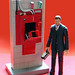mattel ghostbusters figure: walter peck w/containment unit (2010)