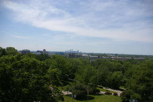 Cleveland, as seen from the Garfield monument