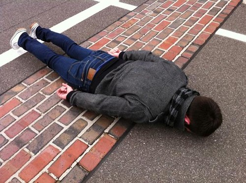 Planking on the Yard of Bricks